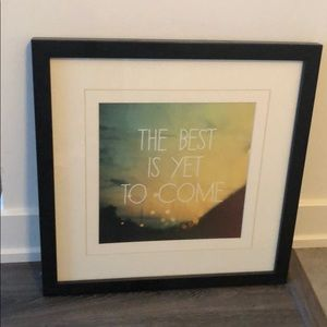 Frame: The best is yet to come